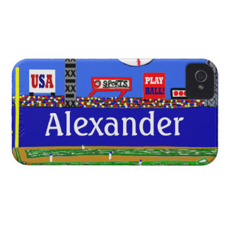 Kids Baseball Personalized iPhone 4 & 4s Case Gift iPhone 4 Case-Mate Cases