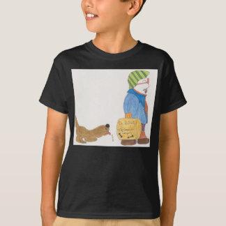 Kid's Basic Hanes Tag-less t-shirt w/ dog & man