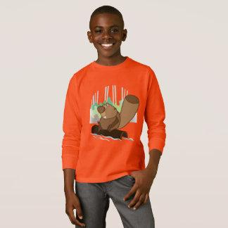 Kids' Basic Long Sleeve T-Shirt, Orange T-Shirt