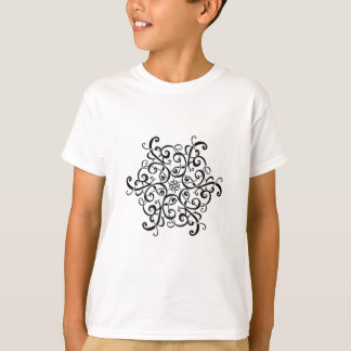 Kid's Basic T-Shirt-Black and White Design T-Shirt
