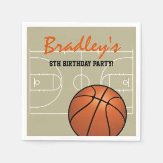 Kids Basketball Birthday Party Disposable Napkin