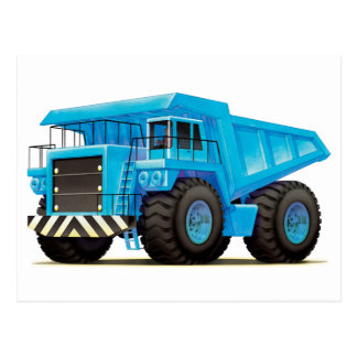 Kids Big Blue Dumper Truck Postcard