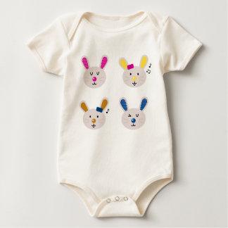Kids bio baby body with Bunnies Baby Bodysuit