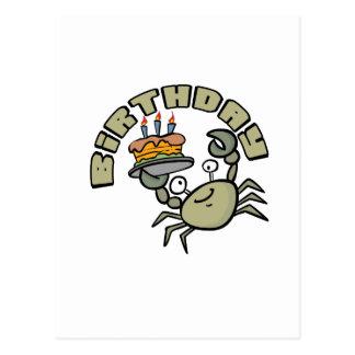 Kids Birthday Crab Post Card
