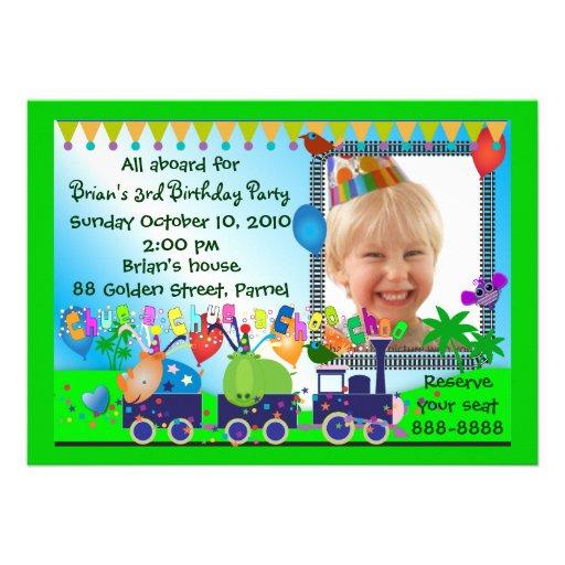 Kids Birthday Invitation 019: Train