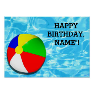 kids birthday party decoration poster