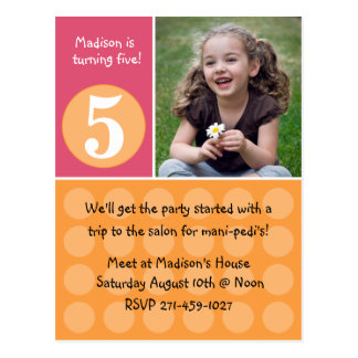 Kids Birthday Party Invitation Post Cards