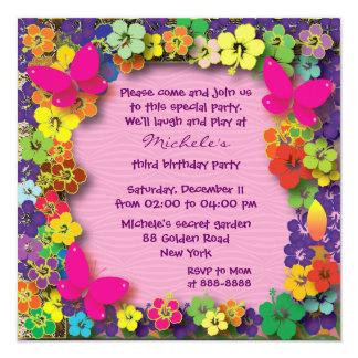Kids birthday party: My Secret Garden Personalized Invitation