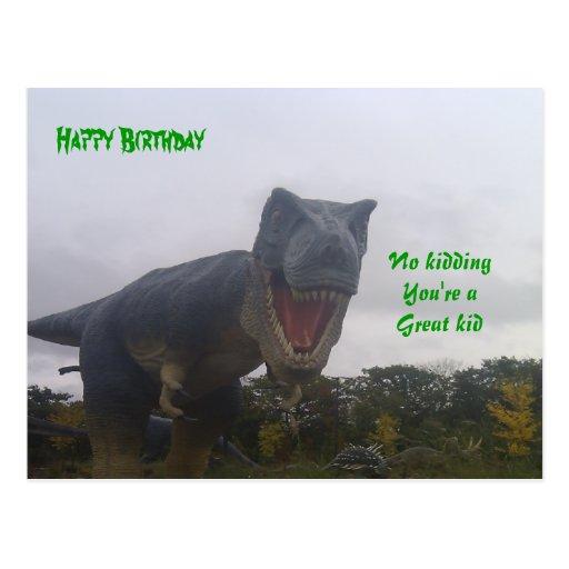 Kids birthday postcards-funny