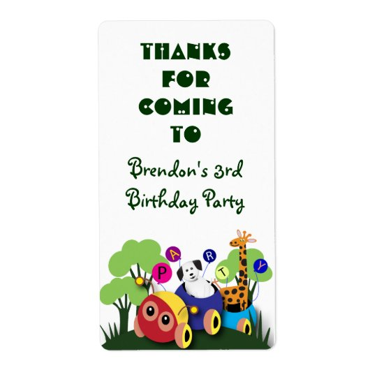 Kids birthday stickers: Fun caterpillar train