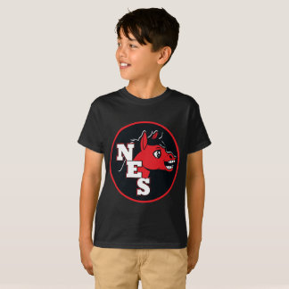 kid's black mini mule t-shirt