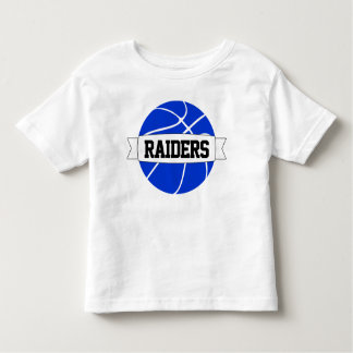 Kid's Blue Basketball Team, Name & Number T-shirt
