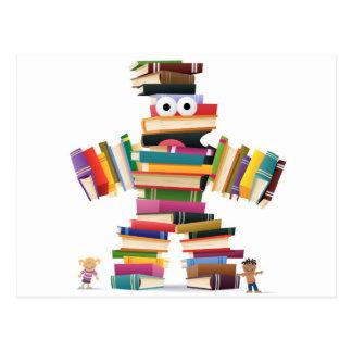 Kids Book Monster Postcard
