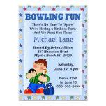 Kids Bowling Birthday  Invitation 13 Cm X 18 Cm Invitation Card