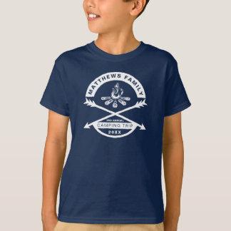 Kids' Camping Trip Reunion Shirt   White Design