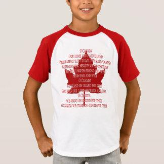 Kid's Canada Anthem Jersey Souvenir Canada Shirt