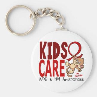 Kids Care 1 AIDS Keychain