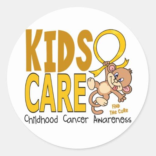 Kids Care 1 Childhood Cancer Round Sticker