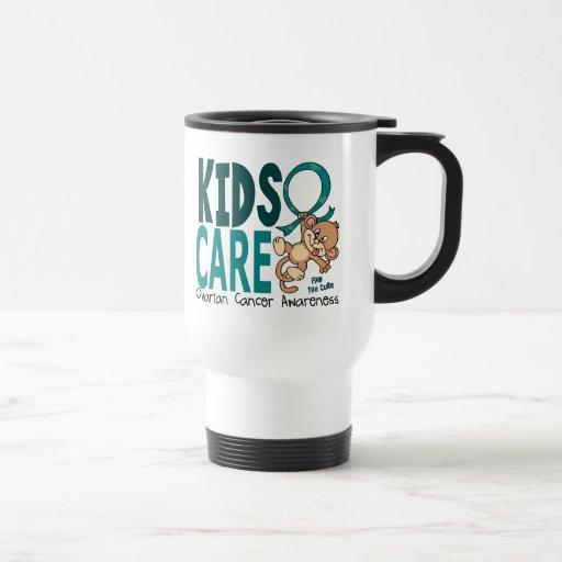 Kids Care 1 Ovarian  Cancer Coffee Mugs