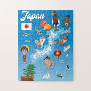 Kids Cartoon Map of Japan Jigsaw Puzzle