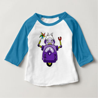 Kids, cartoon, pinwheel robot t-shirt