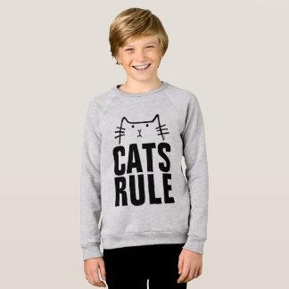 Kids CATS RULE Funny Cat T-shirts
