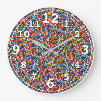 Kids Childrens Colorful Sprinkles Bright Colors Clock
