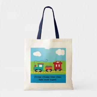 Kids Choo Choo Train Caboose Tote Bag