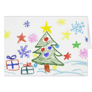 Kids Christmas Card for them to give to anyone