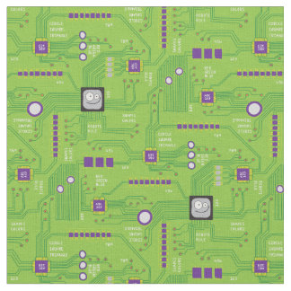 Kid's Circuit Board Fabric