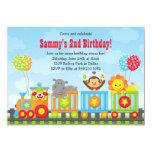 Kids Circus Train Birthday Party Invitation