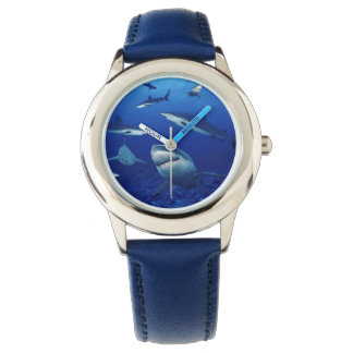 Kids Classic Watch/Sharks Wrist Watches