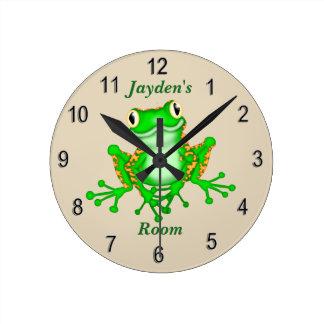 Kid's Clock Cute Tree Frog