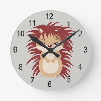 Kid's Clock Cute Woodland Hedgehog