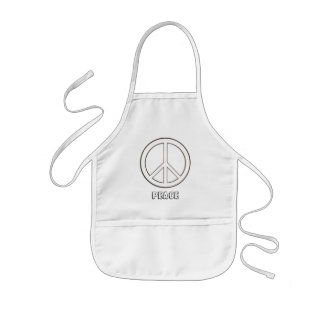 Kids Color in peace sign aprons