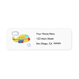 Kid's Colorful Airplane Return Address Label