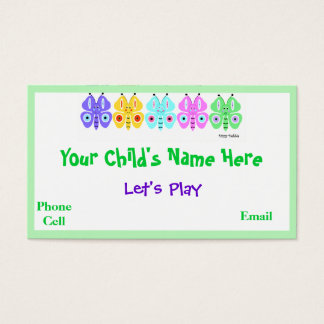 Kid's Colorful Butterfly Calling Cards