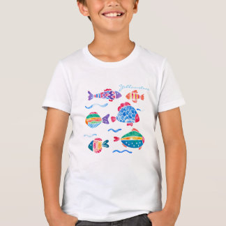 Kids Colorful Fish Yellowstone T-shirt
