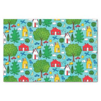 Kids Colorful Neighborhood Tissue Paper