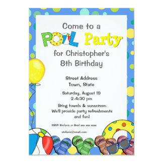 Kids Pool Party Invitations & Announcements | Zazzle.com.au