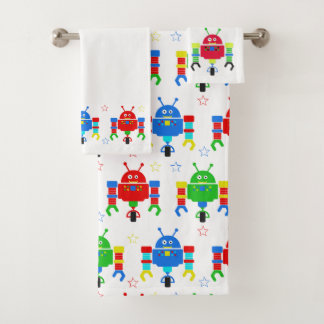 Kids Colorful Robot Towel Set