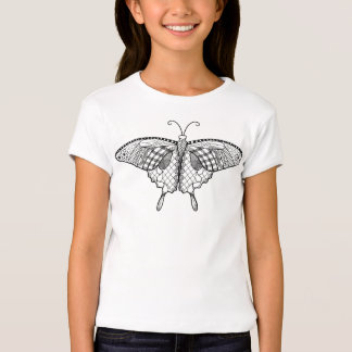 Kids Coloring Butterfly Shirt