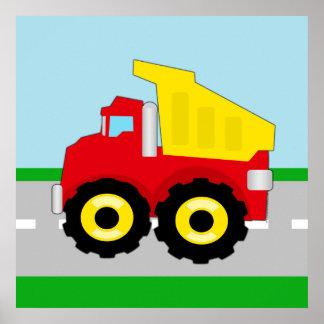 Kids Construction Dumptruck Poster