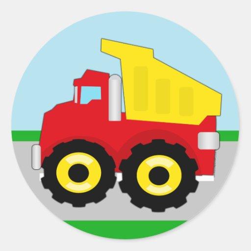 Kids Construction Dumptruck Sticker