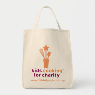 Kids Cooking for Charity Organic Grocery Tote Grocery Tote Bag