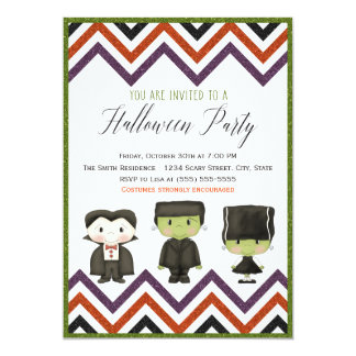 Kids costume Halloween Party Invitation IV