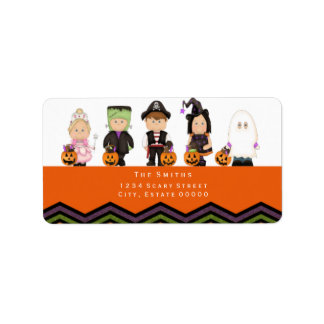 Kids costumes address label III