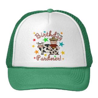Kids Cowboy Birthday Mesh Hats