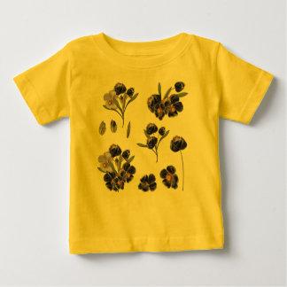 Kids creative tshirt with Folk flowers