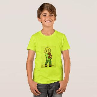 KIDS' CREW T-SHIRT - BOY AND PUPPY